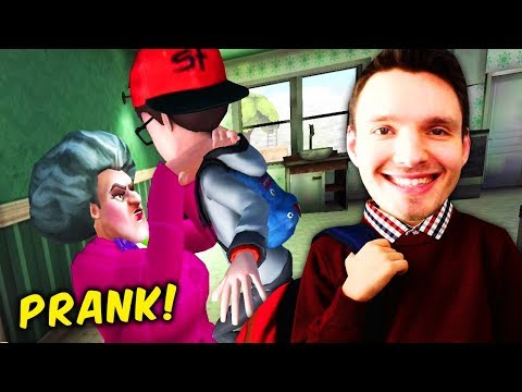 Wir PRANKEN Den BÖSARTIGEN Lehrer Und Zerstören Sein LEBEN !! - Scary Teacher 3D