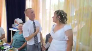 Вот это невеста! Прикол на свадьбе!
