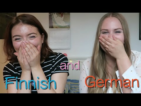 Finnish and German, playing with languages