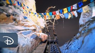 The mountain looms...embark on an adventure at Expedition Everest!