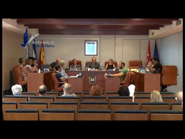 Pleno Ordinario del 25 de julio de 2019 Sevilla la Nueva