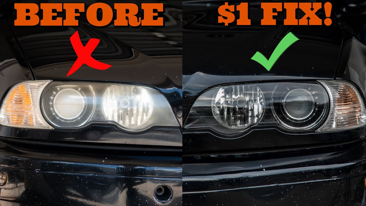 How To Clean And Restore Yellow Oxidized Headlights On Any Budget - $1 VS $20 DIY
