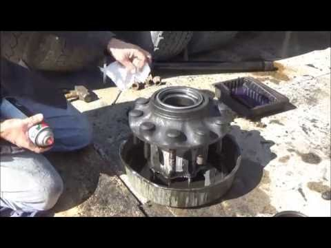 Changing axle seal on semi truck at home without all the special tools