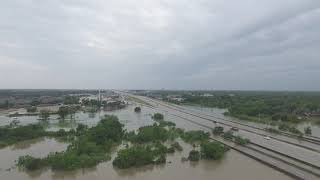 Drone footage of the devastation of Hurricane Harvey in League City Texas.