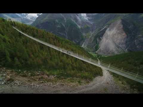 Suisse: le plus long pont suspendu au monde