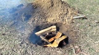 Как сделать древесный уголь своими руками в лесных условиях