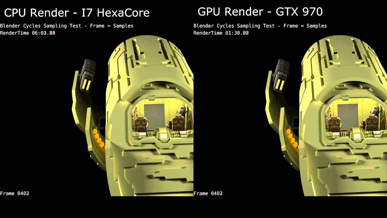 Blender Cycles CPU vs GPU Rendering - YouTube