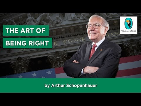 THE ART OF BEING RIGHT: Arthur Schopenhauer - FULL AudioBook