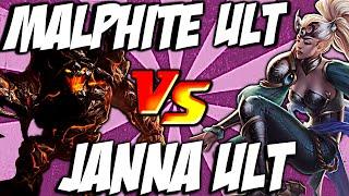 Malhpite Ult vs Janna Ult - Unstoppable Force vs  Monsoon by LoL Clash & Combo #lolclash