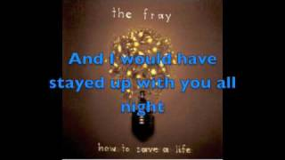Repeat youtube video The Fray - How to Save a Life lyrics