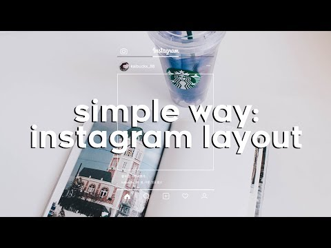 Simple way: How to apply an instagram layout to your photos? 🌿