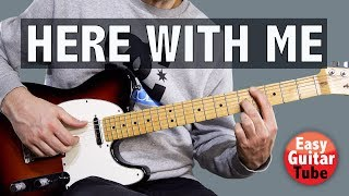 Here With Me - Marshmello & Chvrches // Guitar Tutorial (FREE TABS)