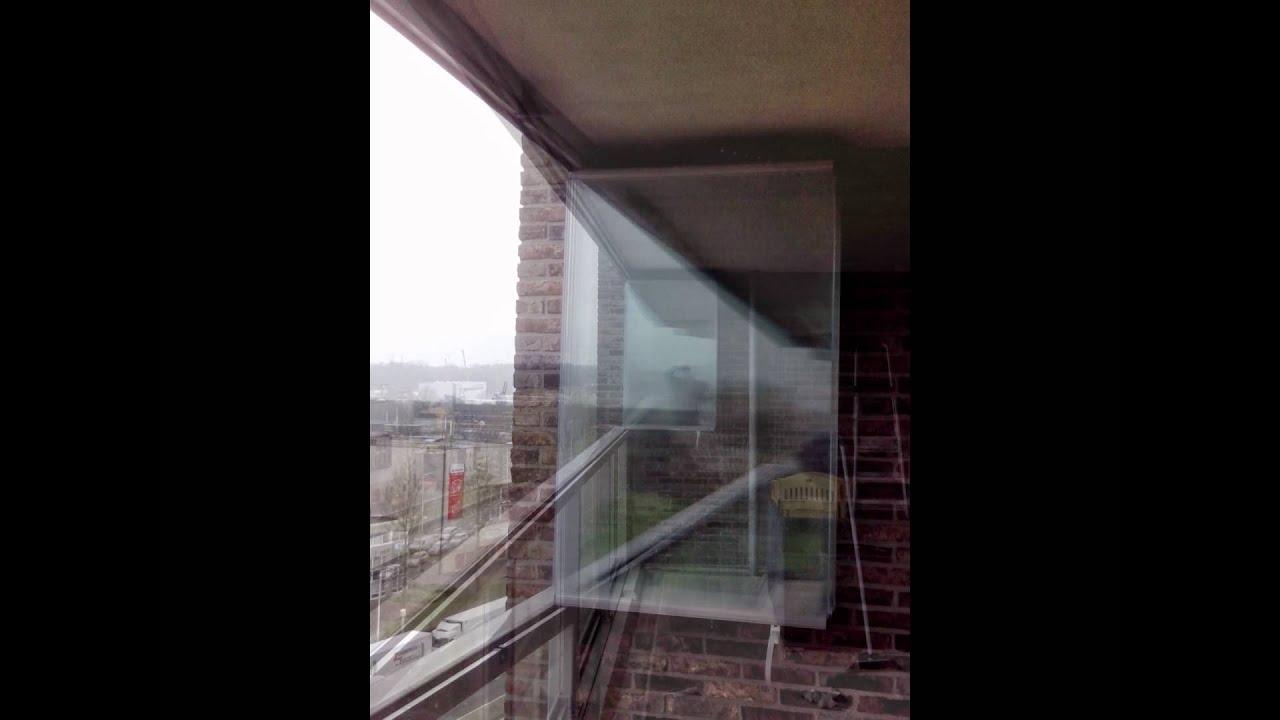 Balkon Glas balkon beglazing, glazen vouwwanden fit in glas - youtube