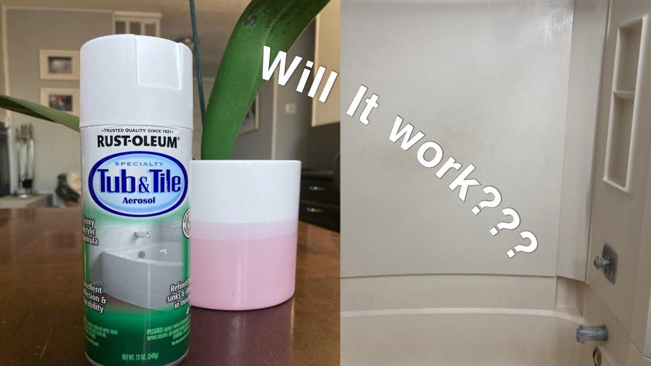 rust oleum tub tile spray paint my experience