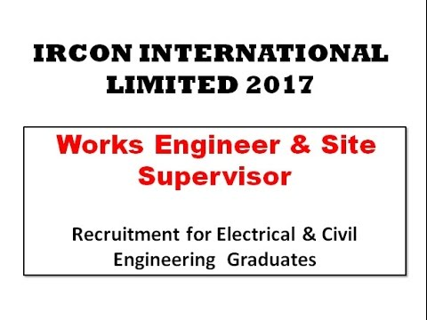 IRCON 2017 Recruitment for Civil & Electrical Engineers