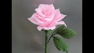Розы из гофрированной бумаги своими руками...