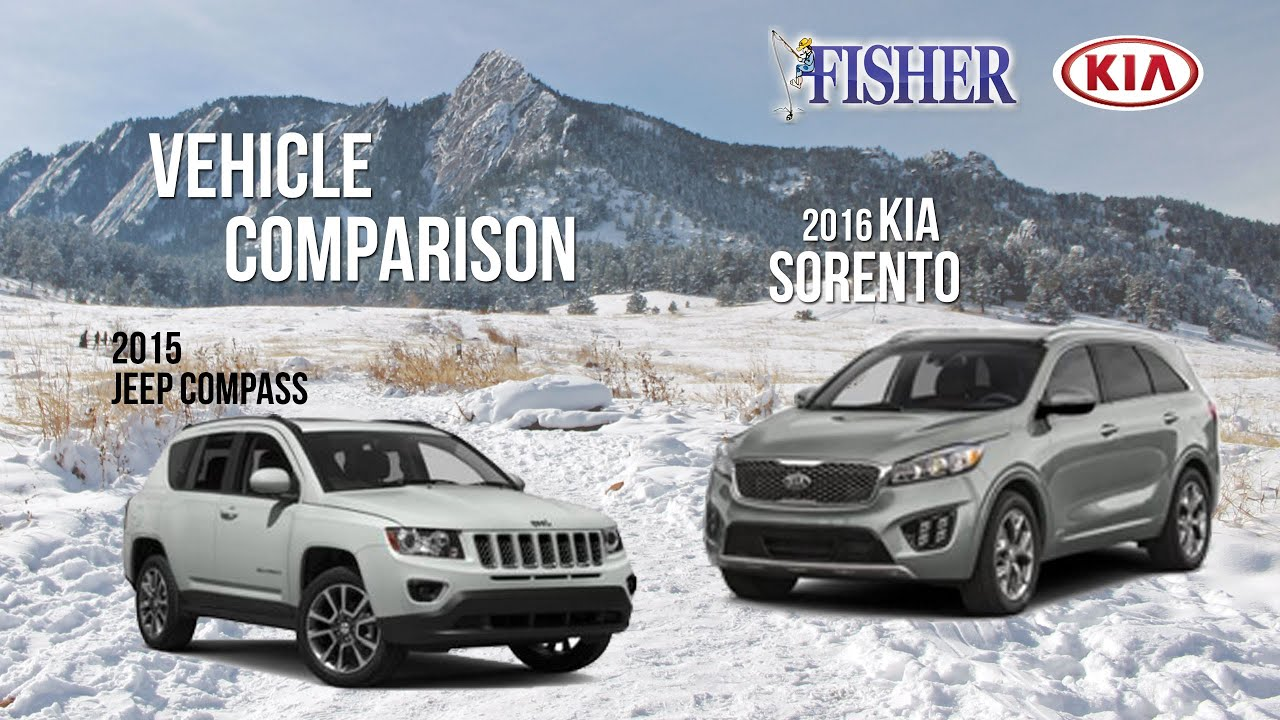 kia comparison: 2016 kia sorento vs. 2015 jeep compass - youtube