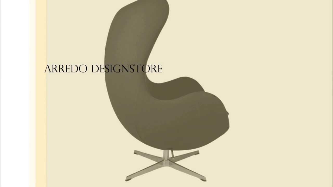 Poltrona Uovo Design Egg Chair Sedia Uovo Arne Jacobsen