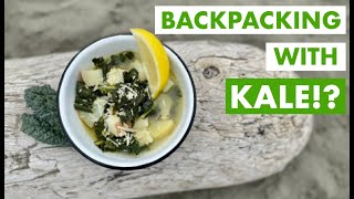 Kale \u0026 Potato Soup | Fast, Easy Backpacking Hiking Camping Meal | Vegan | Vegetarian