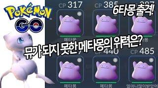 [포켓몬GO]뮤가 되지 못한 메타몽. 6마리 한부대 출전! 망나뇽, 마기라스가 없어도 된다.[포켓몬고][Pokémon Go]