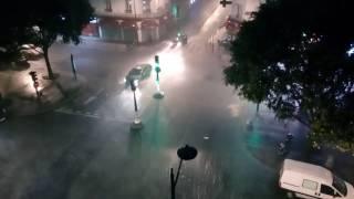 Orage avenue de Flandre - Paris 19 - 09/07/2017