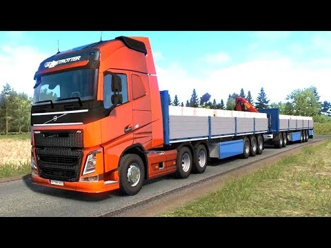 ETS 2 Beyond the Baltic Sea - Volvo FH + HCT Brick Double Trailers