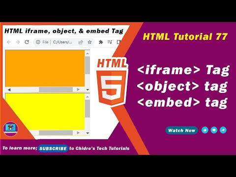 HTML video tutorial - 77 - iframe tag vs object embed tags ...