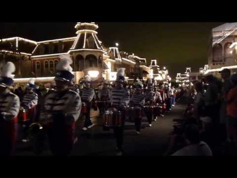 LHS Marching Down Main Street in Disney