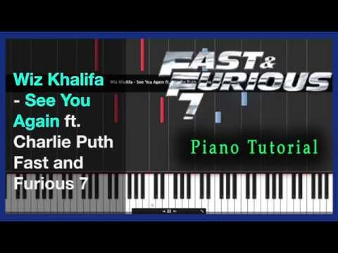 Piano piano chords see you again : Wiz Khalifa - See You Again - Piano Tutorial - Fast & Furious 7 + ...