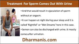 My Sperm Comes Out With Urine, Any Effective Natural Treatment?