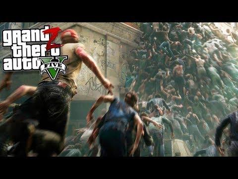 GTA 5 Зомби Апокалипсис - ТОЛПА ЗОМБИ УНИЧТОЖИЛА БАЗУ ВЫЖИВШИХ В ГТА 5 МОДЫ 31! GTA 5 ОБЗОР МОДА
