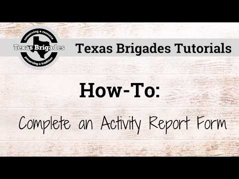 TB Tutorial: How to Complete An Activity Report Form thumbnail