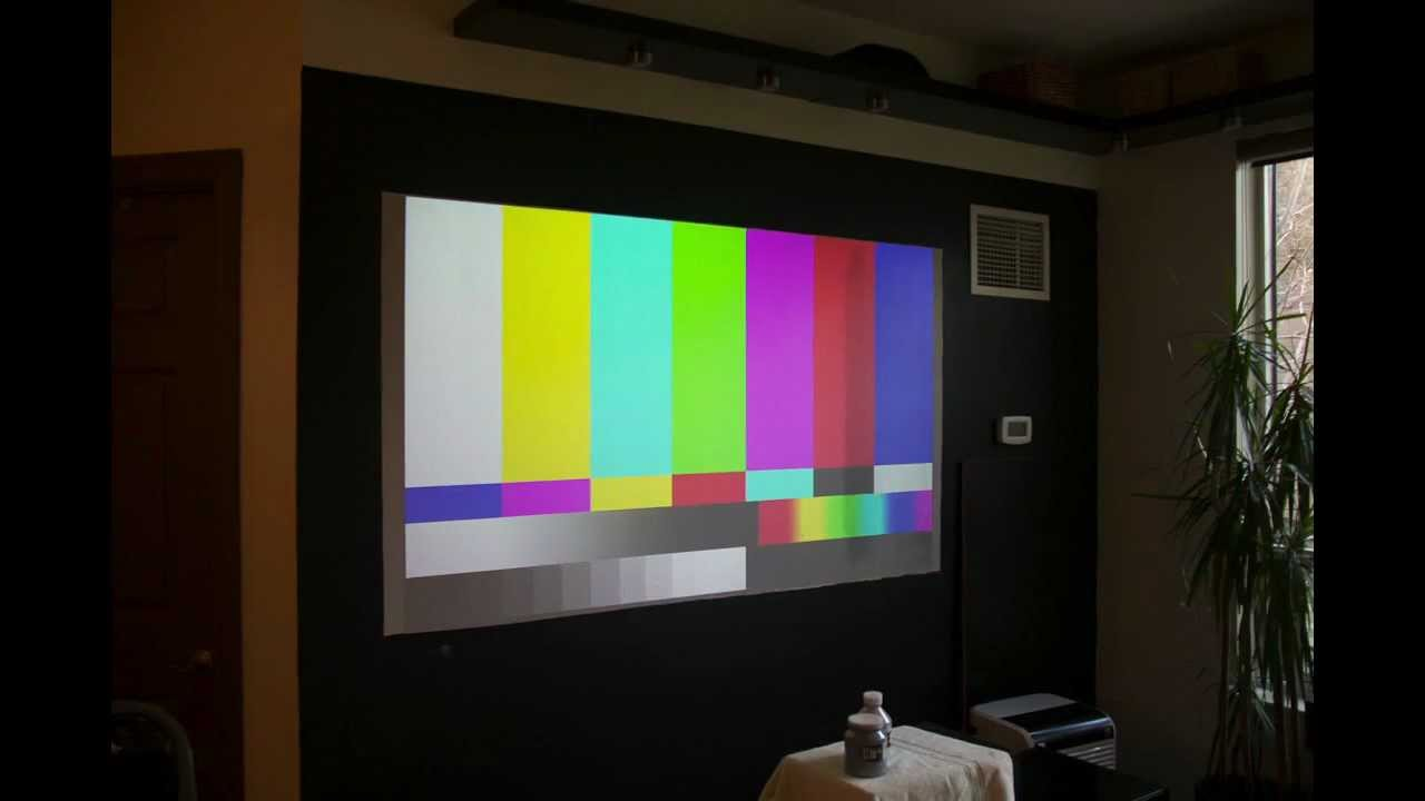 diy goo paint projector screen youtube