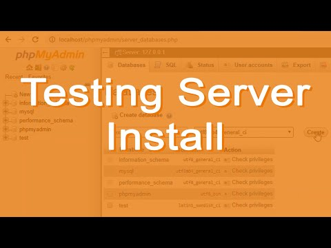 Install a Testing Server Package (an AMP stack) - I used XAMPP in this example.