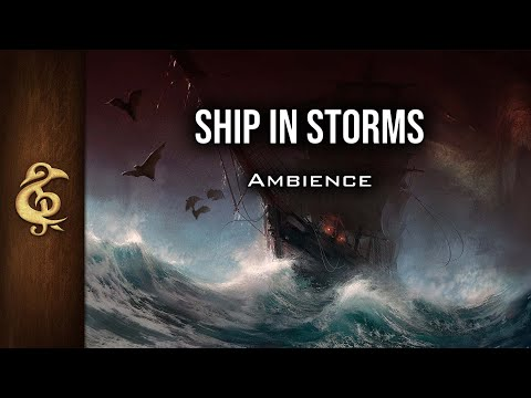 🎧 RPG / D&D Ambience - Ship In Storms | Sea, Waves, Thunder, High Sea, Danger
