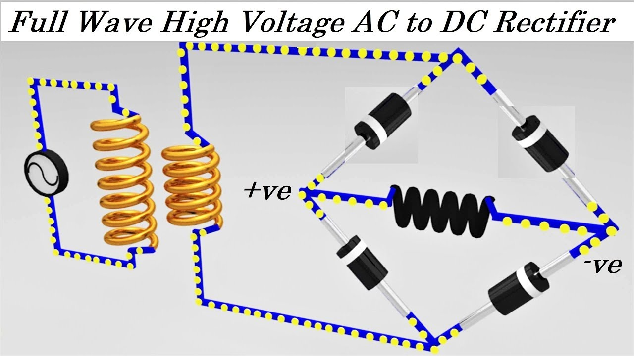 20kV High Voltage AC to DC Converter Rectifier Project DIY Ac To Dc Converter Schematic on