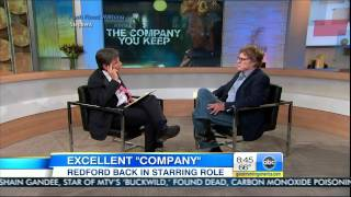 Robert Redford on GMA Mentions Jackie!