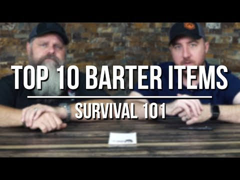 Top 10 Barter Items