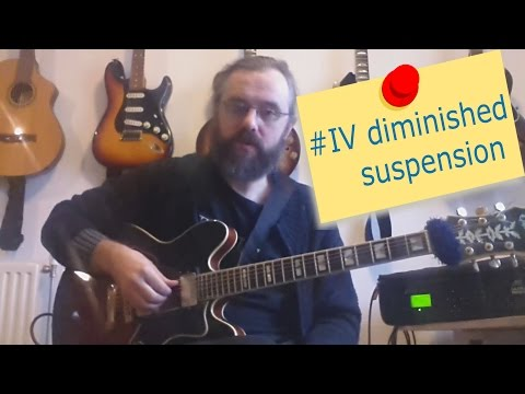 #IV diminished suspension of the I chord