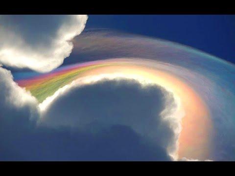 OH MY GOD FIRE HAARP UFO RAINBOW! BLOWS Tourist AWAY! 2015