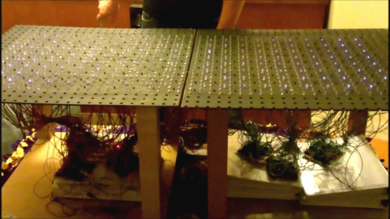 arduino ir reactive led table board x2
