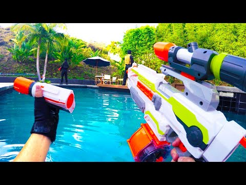 Thumbnail: Nerf War: First Person Shooter 7 (ft. Donald Trump and Hillary Clinton)