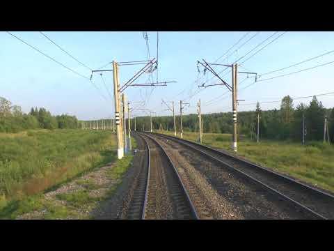 Вид из хвоста поезда - из Коноши в сторону Няндомы