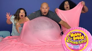 DIY GIANT EXTREME FLUFFY BUBBLEGUM SLIME - EXTREMELY FLUFFY SLIME