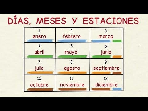 Aprender español: Días, meses y estaciones del año (nivel básico)