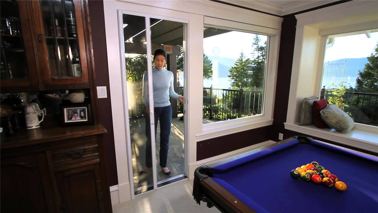 Phantom retractable screen doors youtube for Phantom sliding screen doors