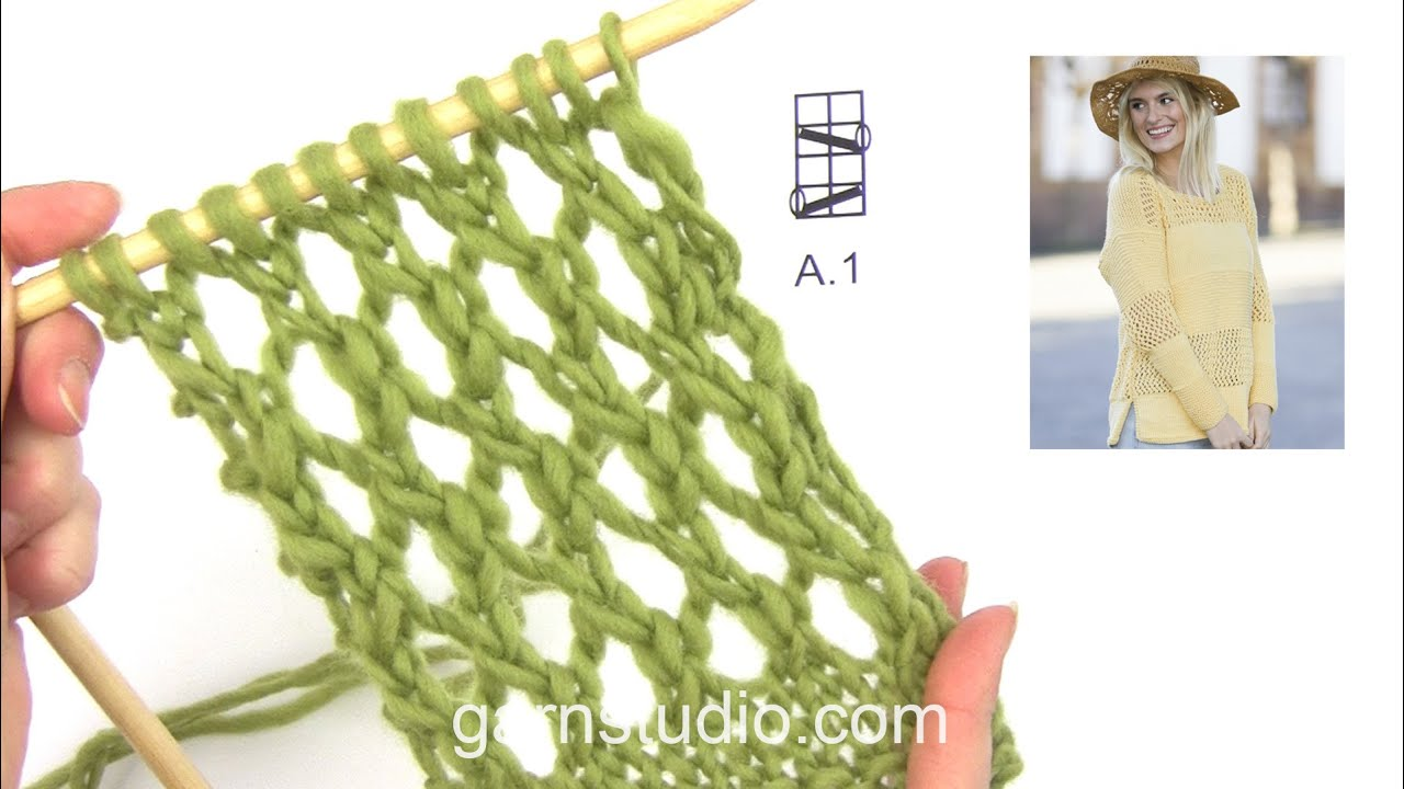How To Knit A1 In Drops 159 3 Youtube