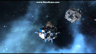 Space Engineers - Total Destruction Of The Miner By Gatling Turret