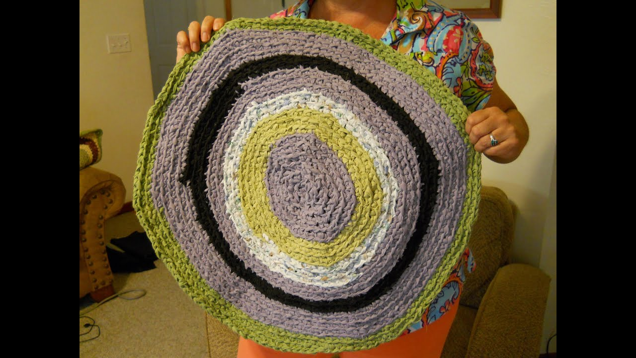Learn The Formula To Make A Circle Crochet Rag Rug Part 2