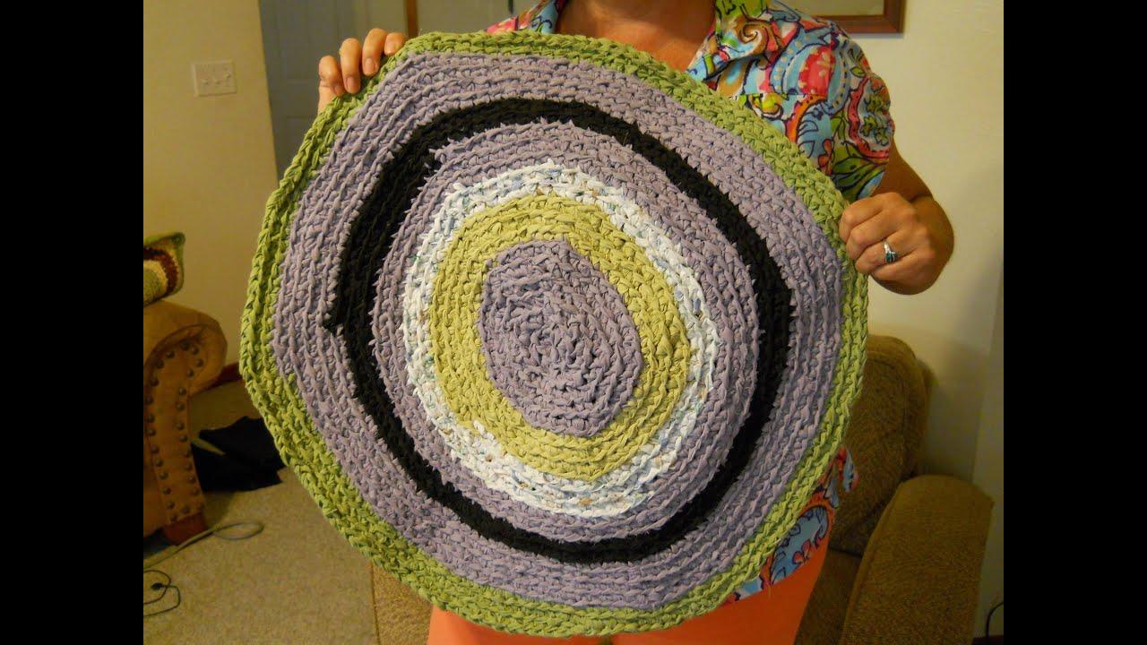 Circle Crochet Rag Rug